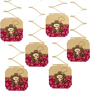 Big Dot of Happiness Little Cowboy - Western Baby Shower or Birthday Party Hanging Decorations - 6 Count