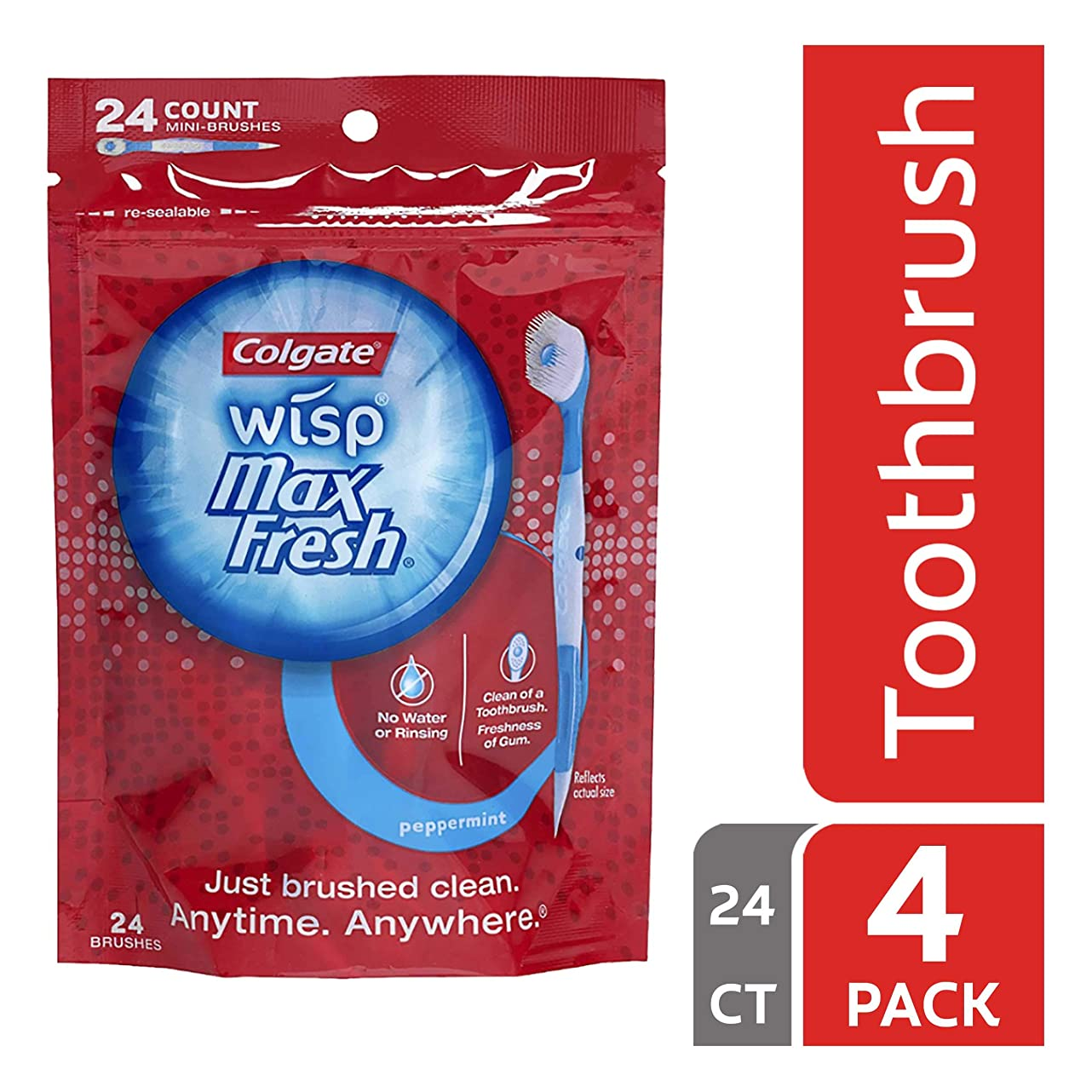 ブースト可能性にはまってColgate Max Fresh Wisp使い捨てミニ歯ブラシ