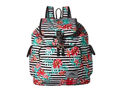 High Sierra Elly Backpack (Tropical Stripe/Black) Backpack Bags