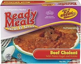 Kosher Meals Ready to Eat, Kosher Beef Cholent with Potato Kugel and Kishka (Microwavable, Shelf Stable) – Dairy Free - Glatt Kosher (12 ounce - Pack of 1)