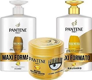 Pantene Pro-V by CHIARA FERRAGNI Shampoo Rigenera & Protegge per Capelli Deboli o Danneggiati, Maxi Formato da 1000 ml + B...