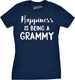 Womens Happiness is Being a Grammy Funny Grandmother Tee for Grandma