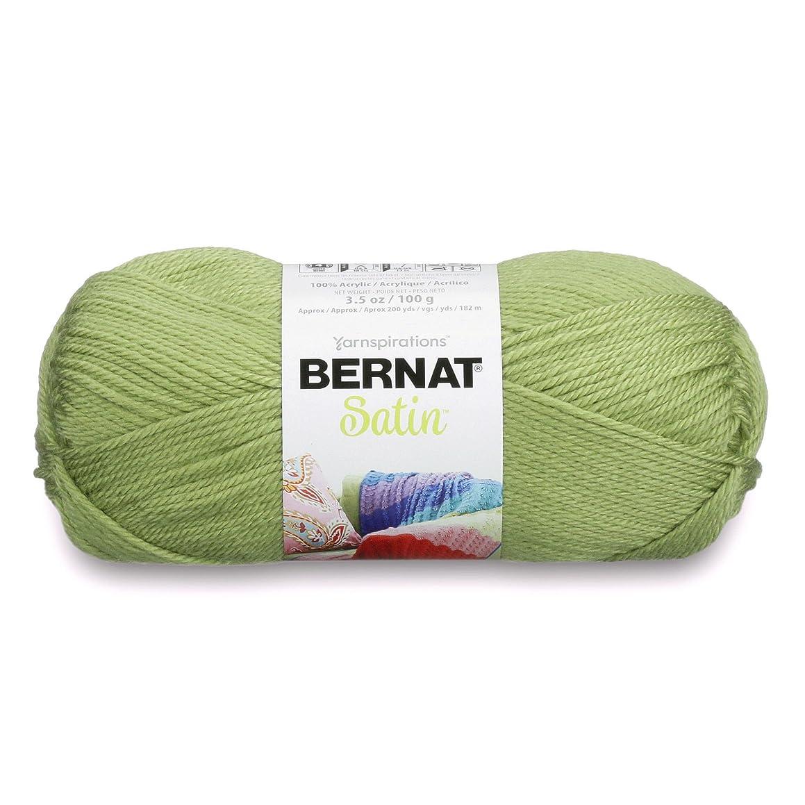 Bernat Satin Solid Yarn, 3.5 oz, Gauge 4 Medium Worsted, 100% Acrylic, Fern