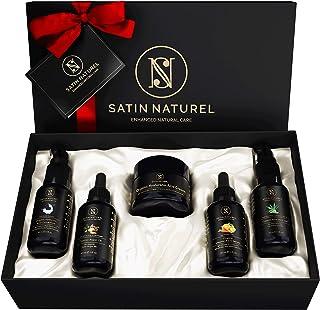 Luxuriöses Anti-Aging BIO Geschenkset 5x30ml - Hyaluronsäure Serum + Hyaluron Creme + Aloe Vera Gel + Vitamin ACE Serum + ...