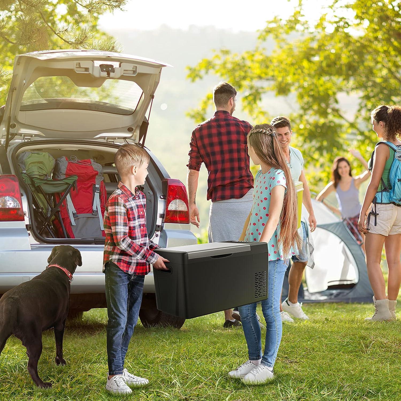 JoyTutus Portable 12 Volt Refrigerator, 23 Quart(22L) Car Fridge for DC 12/24V and AC 110V, -7.6℉~50℉ Freezer, Electric Cooler for Camping, Travel, RV, Truck, Vehicle, Boat and Home : Automotive