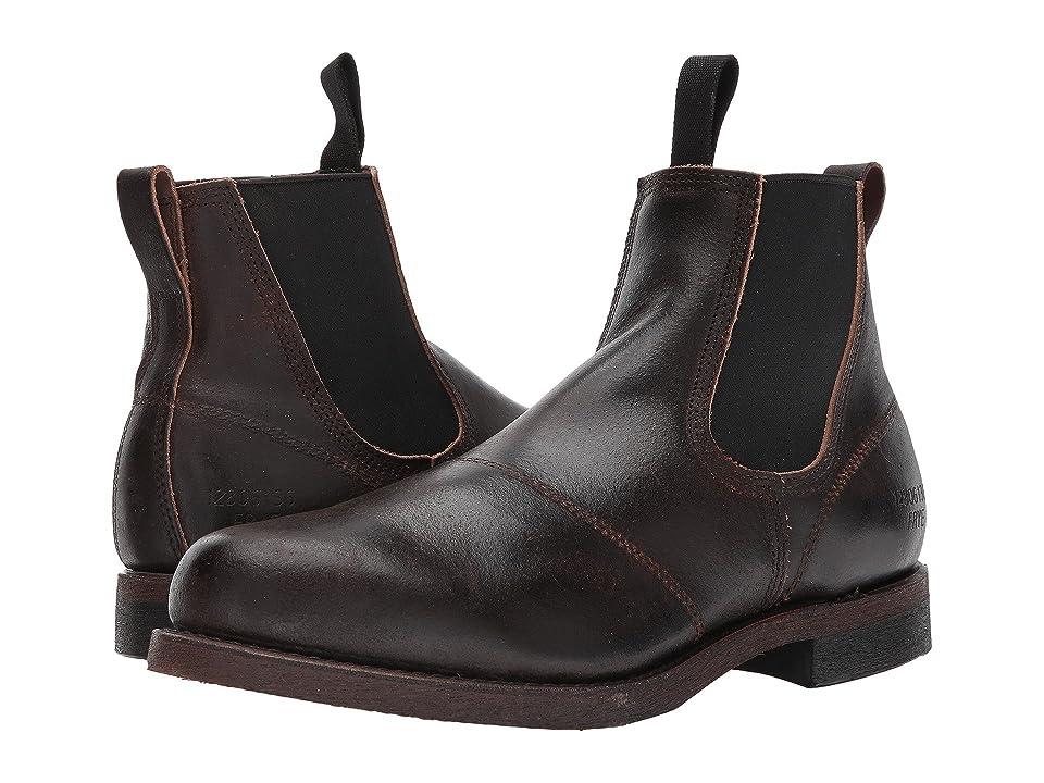 Frye Prison Yard Boot (Chocolate Waxed Suede) Men