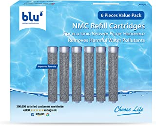 NMC Refill Cartridge for the blu Ionic Shower Filter – Handheld – Combo Pack (6 Piece Value Pack)