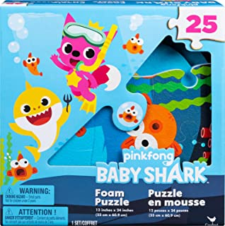 Spin Master 6054917 Baby Shark Foam Puzzle 25 pcs, Multi-Coloured
