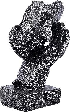 Webelkart Poly Resin Human Face Sculptures Showpieces Creative Traditional Idea with Modern Theme Abstract Design Art Figurin