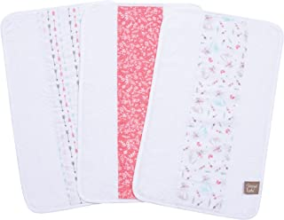 Trend Lab Fox and Feathers 3 Piece Jumbo Burp Cloth Set, Multi