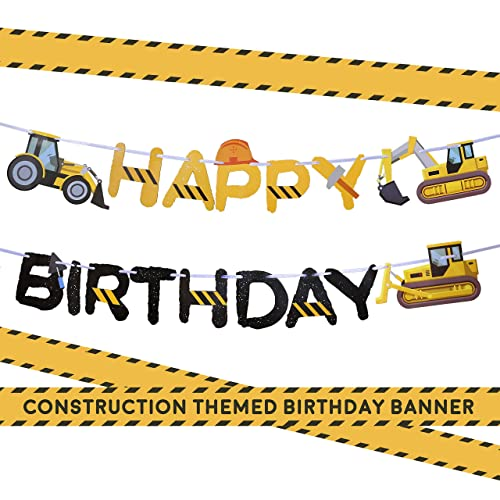 Construction Birthday Party Supplies Banner By Aliza