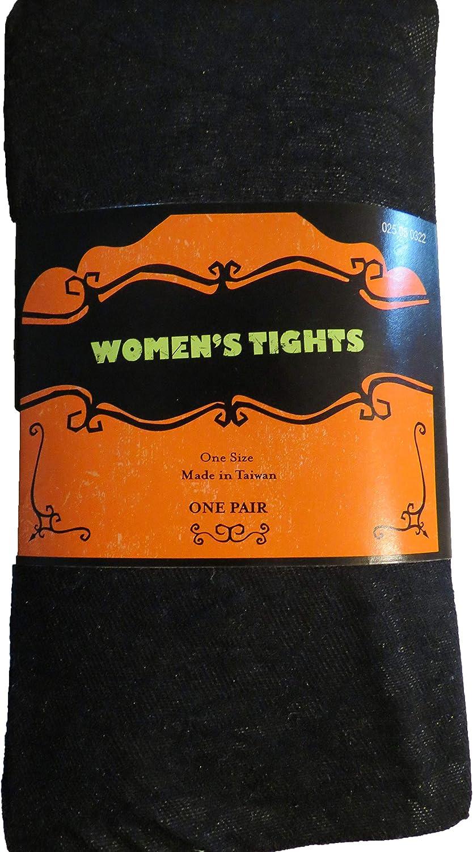 Women's Tights Halloween Black Spider Web OSFM