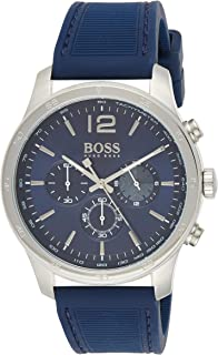 Hugo Boss Mens Quartz Watch, Analog Display and Rubber Strap 1513526
