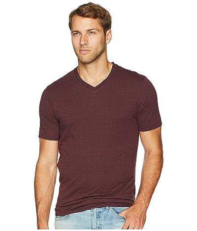 Threads 4 Thought Baseline Tri-Blend V-Neck Tee (Maroon Rust) Men
