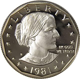 1981 S Type 2 Flat S $1 Susan B. Anthony SBA Dollar US Coin Choice Proof