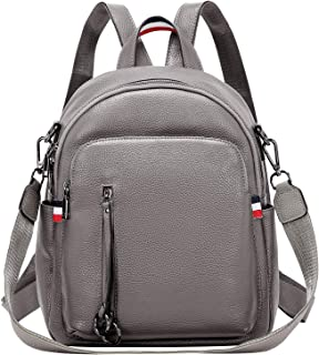 Fashion Genuine Leather Backpack Purse for Women Shoulder Bag Casual Daypack