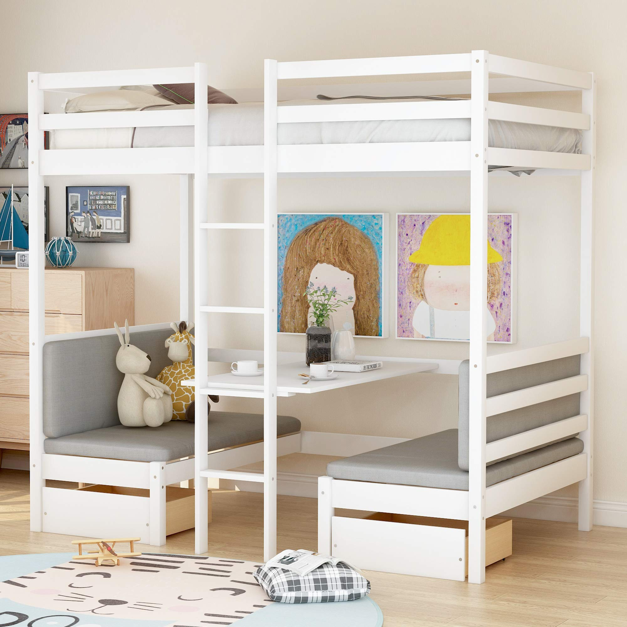 الاضطهاد تدفق سكوير Bunk Bed With Desk Under Loudounhorseassociation Org