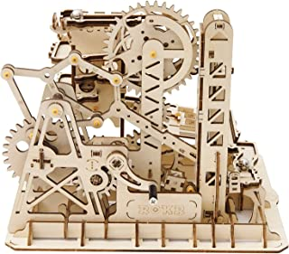 ROKR Mechanical Gears DIY Building Kit Mechanical Model Construction Kit with Balls for Teens and Adults Tower Coaster