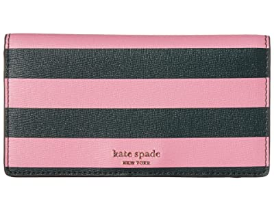 Kate Spade New York Medium Bifold with Card Holder (Pink Multi) Wallet Handbags