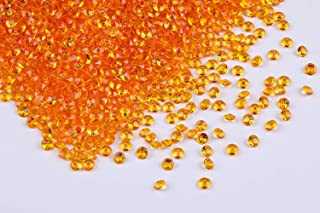 Gintoaria 10000 pcs/Pack Wedding Table Scatter Confetti Crystals Acrylic Diamonds Vase Fillers 4.5 mm Rhinestones for Wedding, Bridal Shower, Vase Beads Decorations (Bisque)
