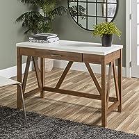 Deals on Walker Edison Furniture Rustic Farmhouse Wood Desk 46 Inch