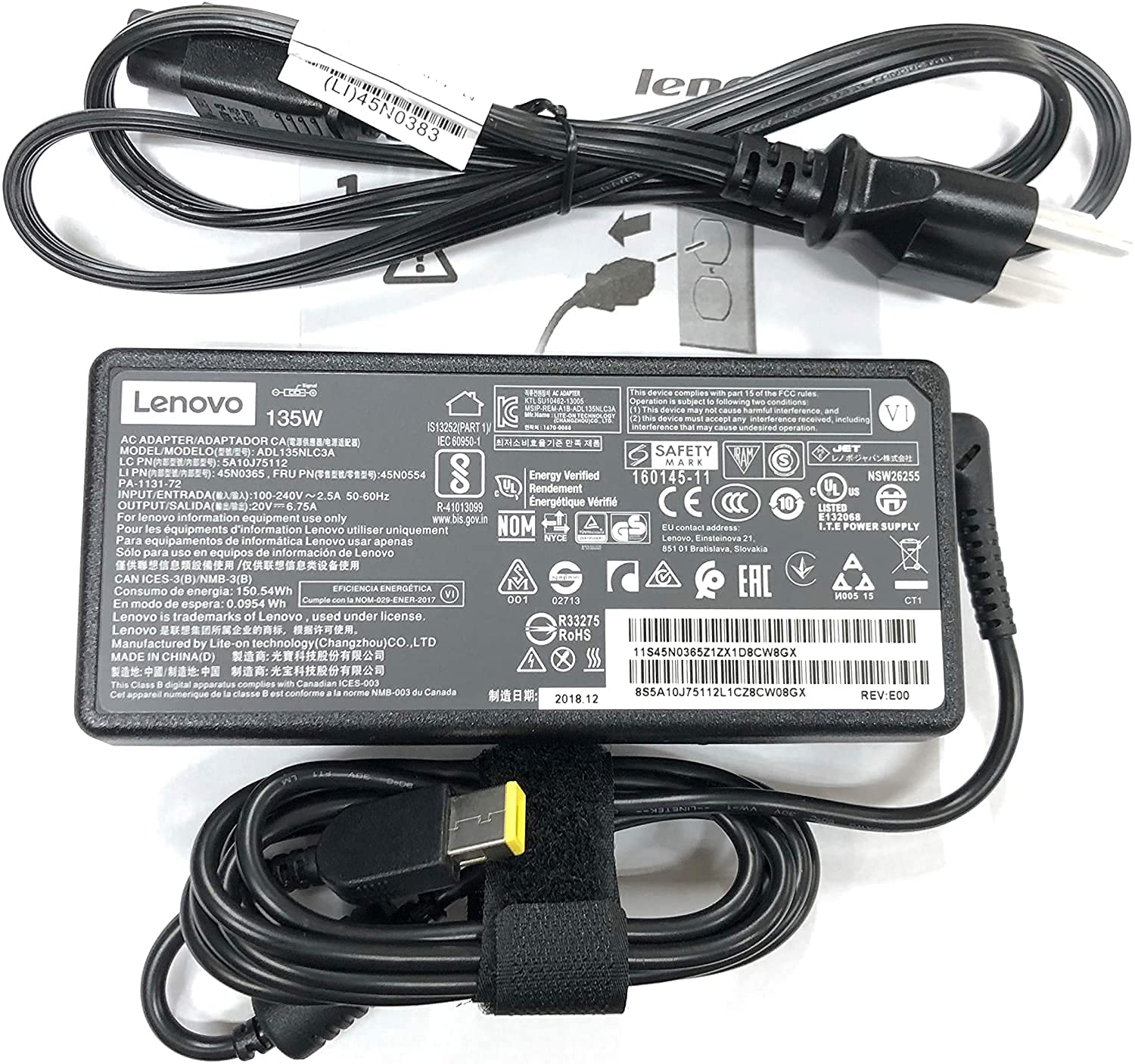 New Columbus Mall Genuine Laptop store Charger 135W Tip Slim 6.75A ADL135NDC3A 20V