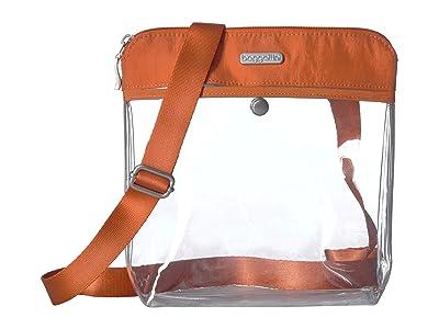 Baggallini Legacy Stadium Bags Clear Pocket Crossbody (Orange) Cross Body Handbags