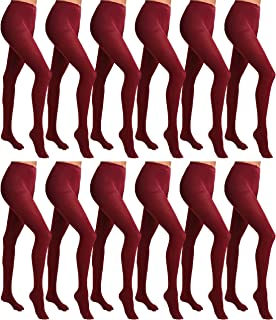 Womens Opaque Footed Tights, Bulk Pack, Comfortable Soft Stretchy Control Top, 80 Denier, One Size/Plus Size