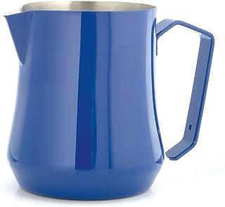 Motta MO-04150/00 Stainless Steel Tulip Milk Pitcher/Jug, 17 fl. oz./50 Cl, Blue