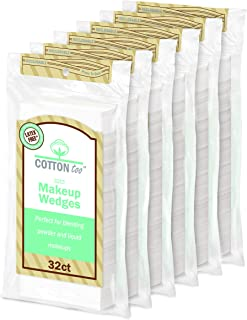 Cotton Too Premium 32 Count Latex-free Cosmetic Wedges, 6 Pack