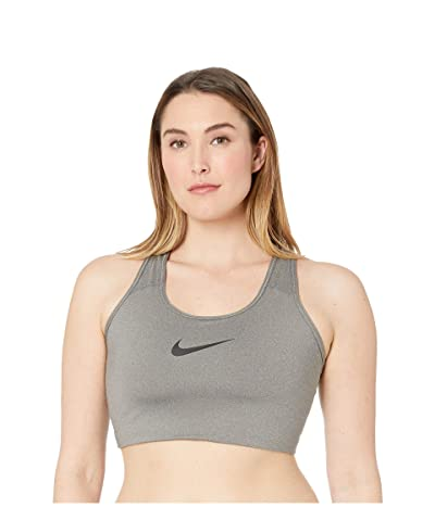 Nike Swoosh Bra (Sizes 1X-3X) (Carbon Heather/Black) Women
