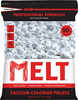 Snow Joe MELT50CCP 50-LB Professional Strength Calcium Chloride Pellets Ice Melter Resealable Bag