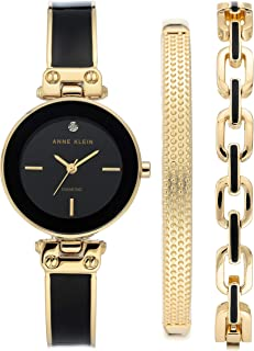 Women's Genuine Diamond Dial Watch and Bracelet Set, AK/3346