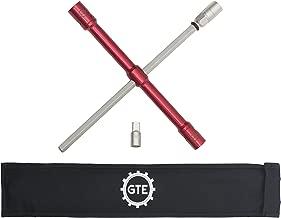 "LugStrong 26"" Universal 4 Way Lug Wrench Tire Iron Set Torque Breaker Bar Built in Socket Adapters 2X Torque Anti Slip Grip"