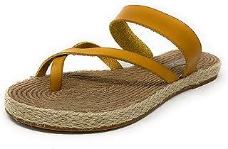 October Women Espadrille Flip Flops Flat Summer Basic Sandals Thongs Toe Ring