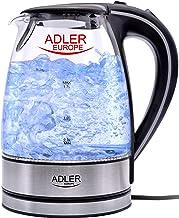 غلاية ماء كهربائية 2200 وات من ألمانيا من الشاي 1.7 لتر خالية من البيسفينول مع مؤشر LED أزرق - إغلاق آمن فارغ - حشوة بتقني...