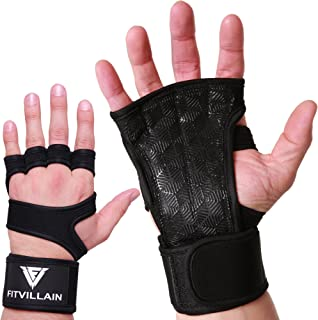 Premium Crossfit Gloves with Built-In Wrist Wraps - Workout Gloves - Non-Slip Eco+ Padding for Extra Grip - Protection - Comfort - Ideal for Cross Training - WODs - Weight Lifting - Suits Men & Women