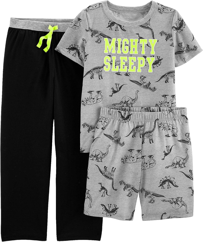 Carter's Boys' 3-Piece Poly Pajama Sets (Heather/Mighty Sleepy, 4)