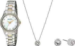 Women's 98X112 Two Tone Swarvoski Crystal Watch Box Set