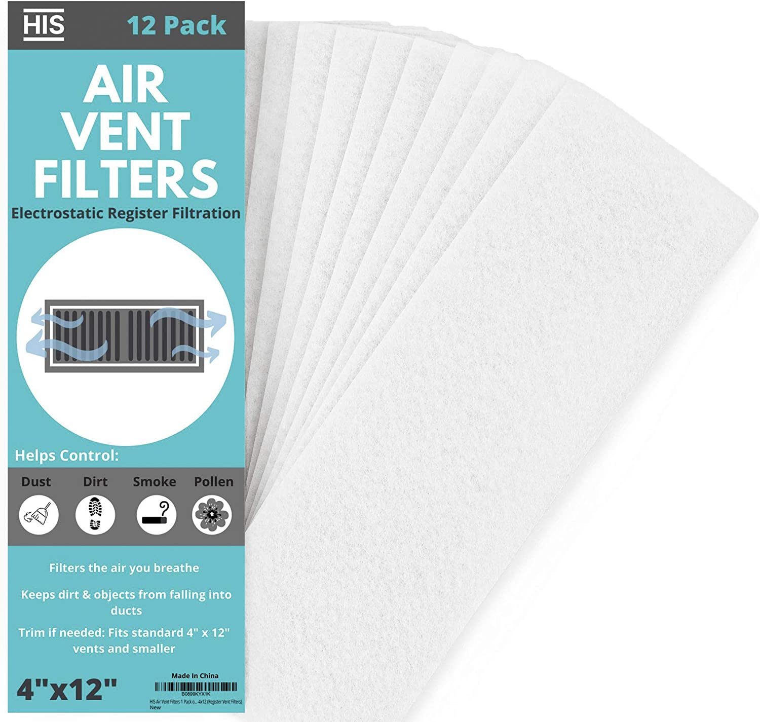 Air Vent Filters 1 Pack of 12 Register – Classic Ve x 4