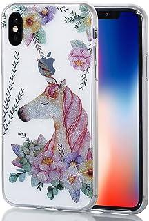 a422fabdf76 Alfort iPhone X / 10 Funda Carcasa iPhone X / 10 Transparente Case Cover  con Polvo