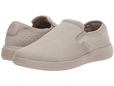 Crocs Reviva Canvas Slip-On (Khaki/Cobblestone) Men