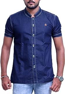 PP Shirts Men Blue Coloured Denim Shirt