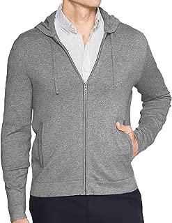 Banana Republic Luxe Cashmere Blend Full Zip Up Hooded Sweatshirt Jacket Grey Heathered