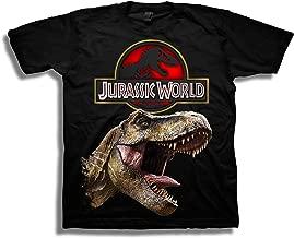 Jurassic World Boys 2 Logo & T-rex Short Sleeve T-Shirt