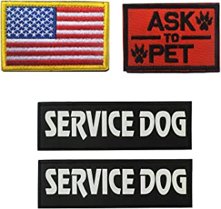 Best Homiego Military Morale Service Dog Patch for Pet Tactical K9 Service Harness Vest Pack of 4 (1) Review