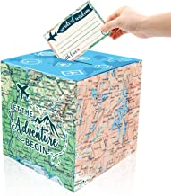 Adventure Card Box Holder and Advice Cards for Adventure Awaits Bon Voyage Farewell Travel Themed Birthday Baby Shower Graduation Retirement Job Career Change Party Decorations Supplies Set of 31