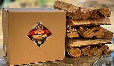 Smoak Firewood - Kiln Dried Premium Oak Firewood (Includes Firestarter) (Large (16inch Logs) 60-70lbs)