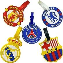 Set of 5 FIFA Football Club Soccer Theme Luggage Tag/ID Tag Set