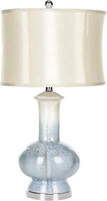 Safavieh UKL4045A Cole Table Lamp, Ceramic, Soft Blue, 13 W